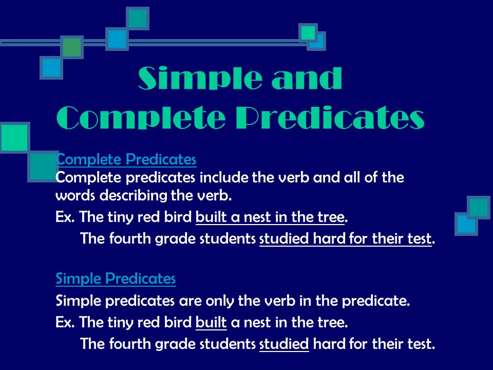 Simple and Complete Predicates