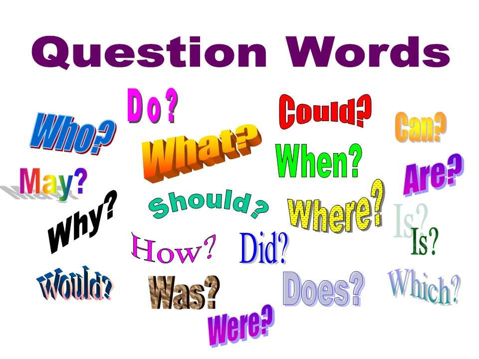 Question Words Do Could Can Who What When Are May Where Why Should Is How Did