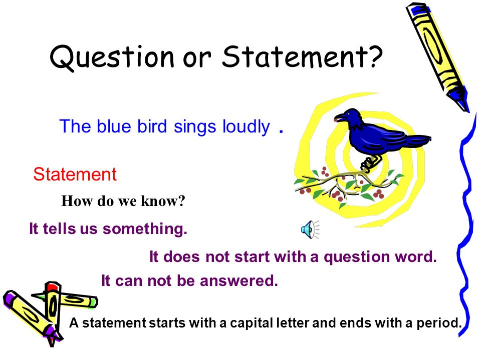 The blue bird sings loudly