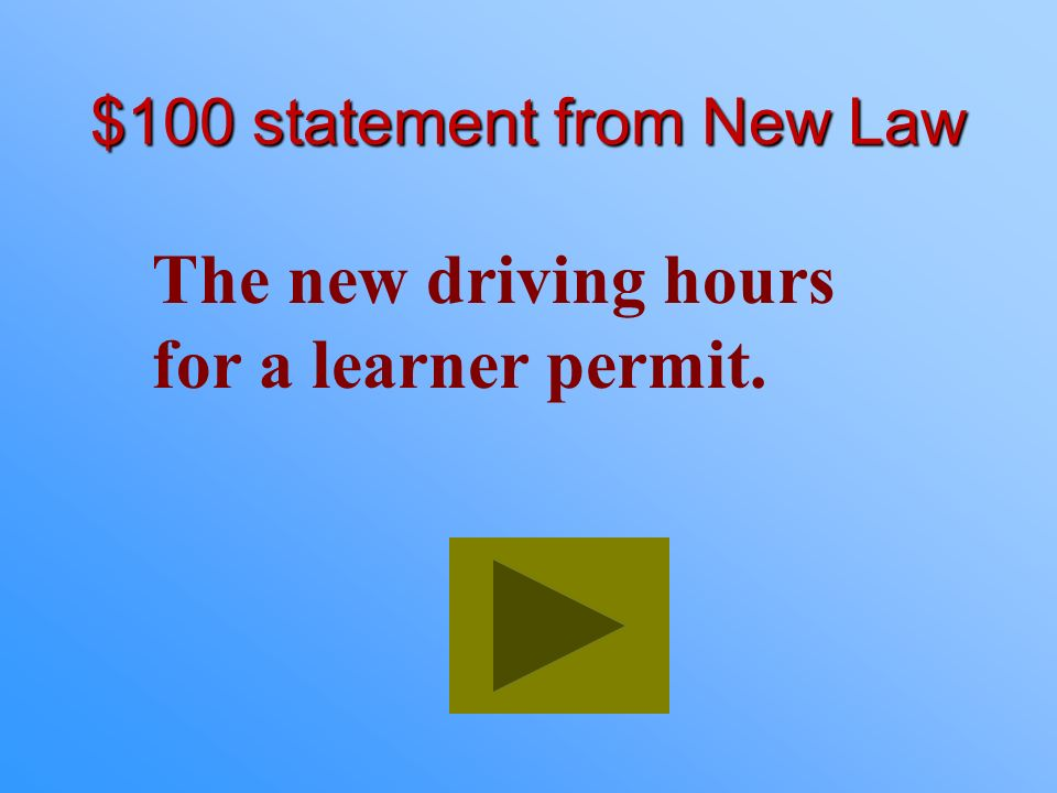 $100 statement from New Law