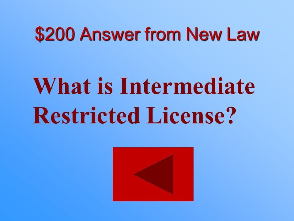 What is Intermediate Restricted License
