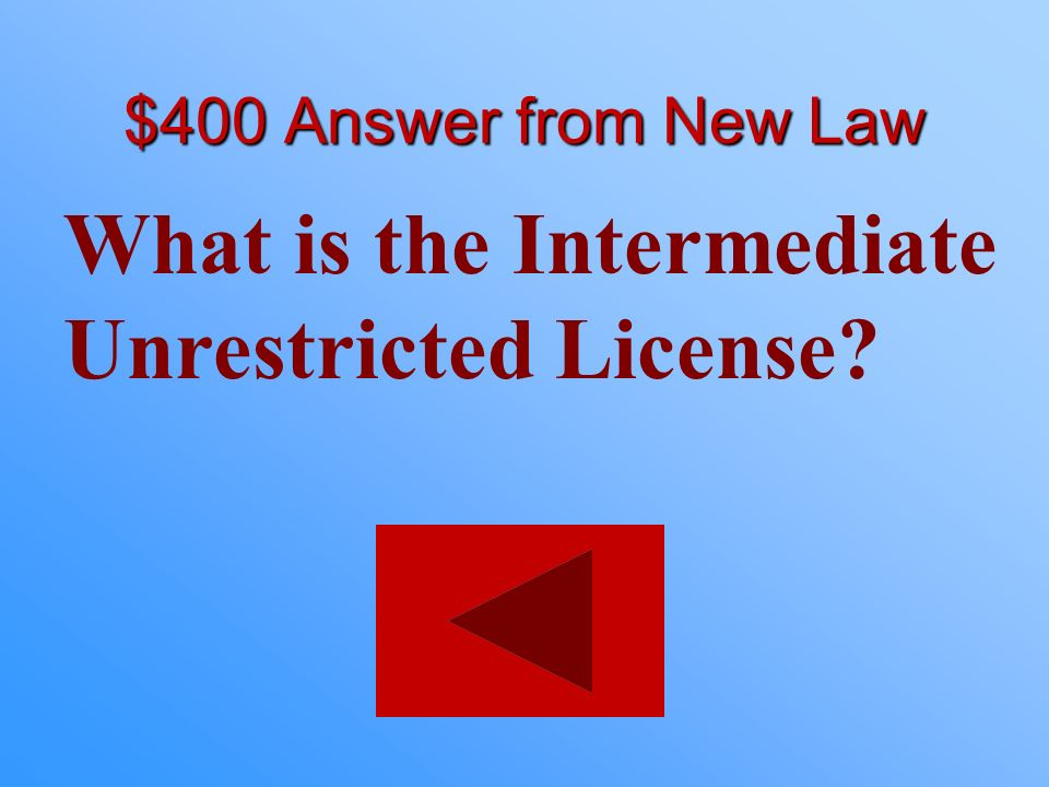 What is the Intermediate Unrestricted License