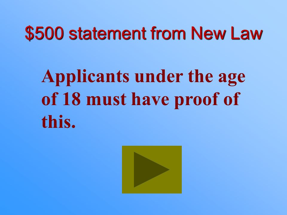 $500 statement from New Law