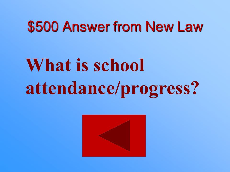 What is school attendance/progress