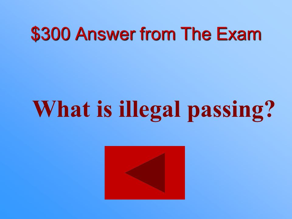 What is illegal passing