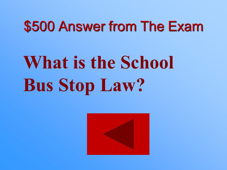 What is the School Bus Stop Law