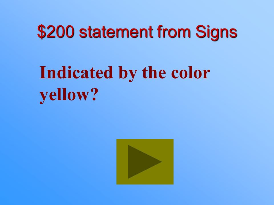 Indicated by the color yellow