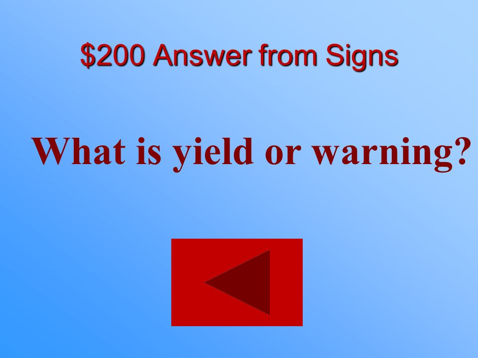What is yield or warning