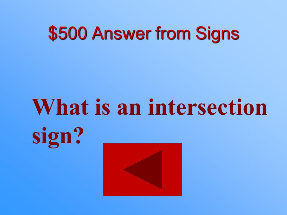 What is an intersection sign