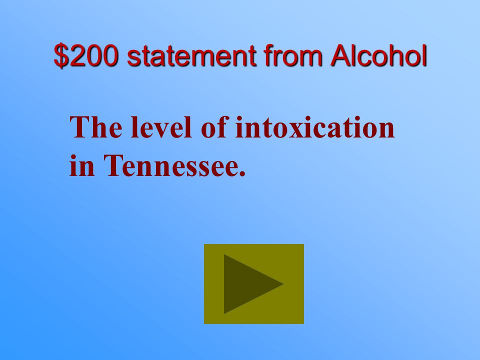$200 statement from Alcohol