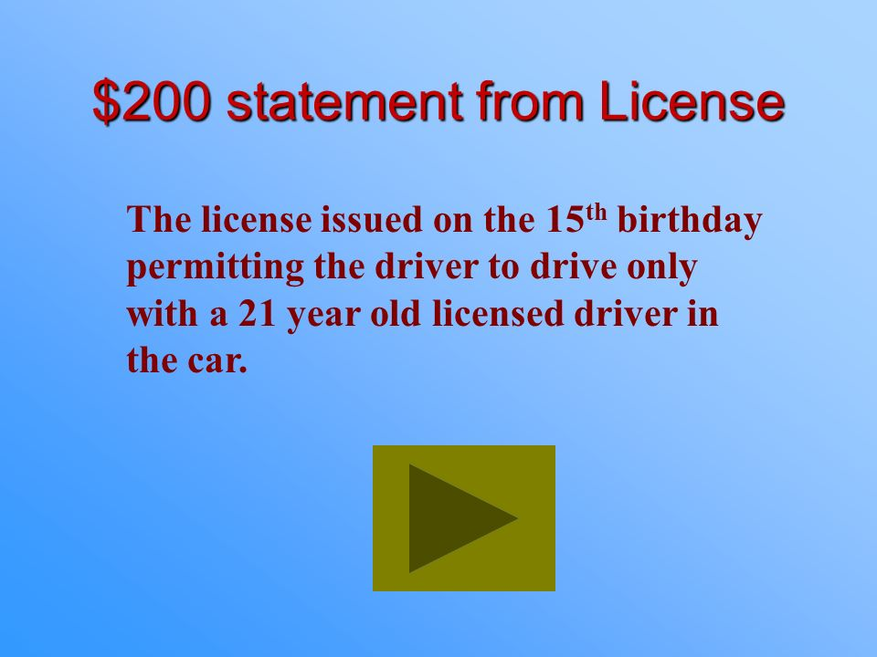 $200 statement from License