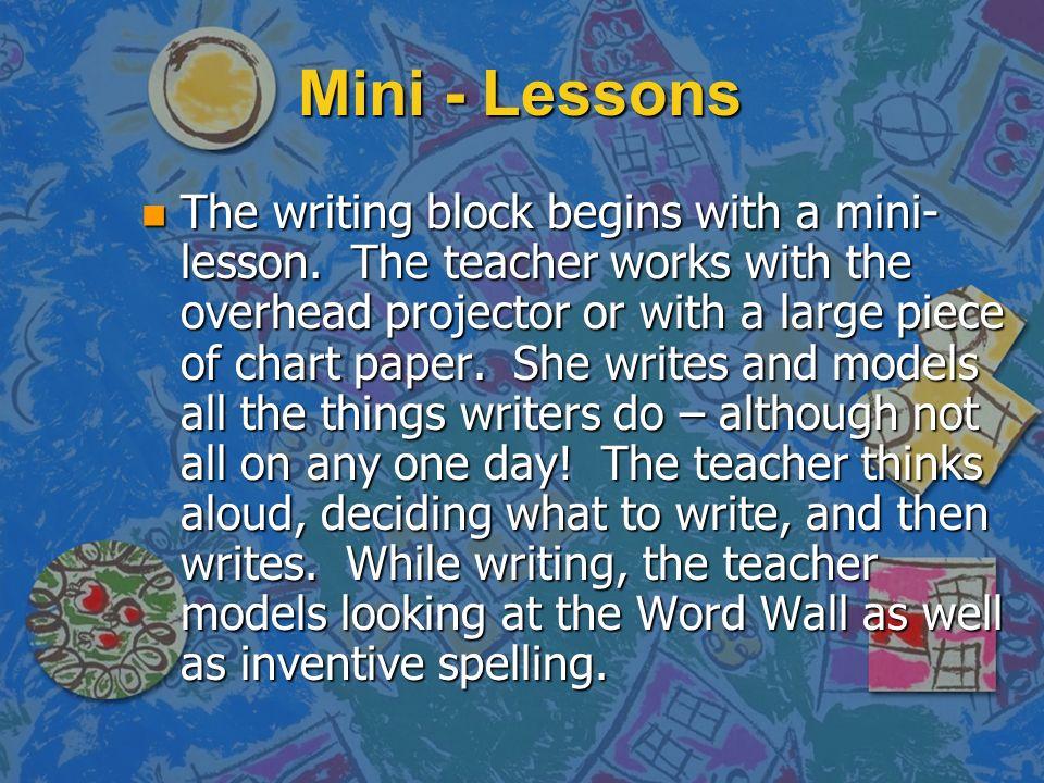 Mini - Lessons