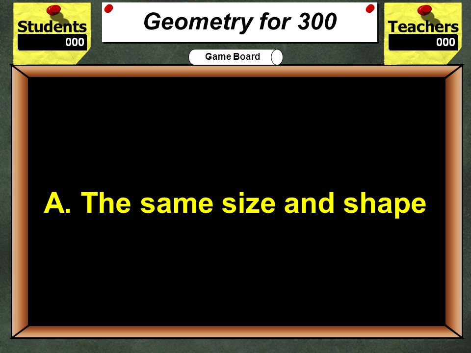 300 A. The same size and shape Geometry for 300