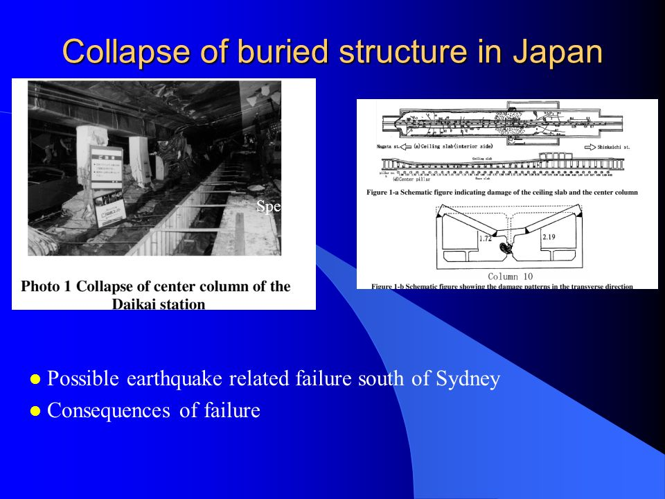 Collapse of buried structure in Japan
