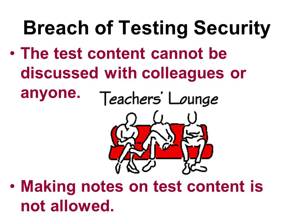 Breach of Testing Security