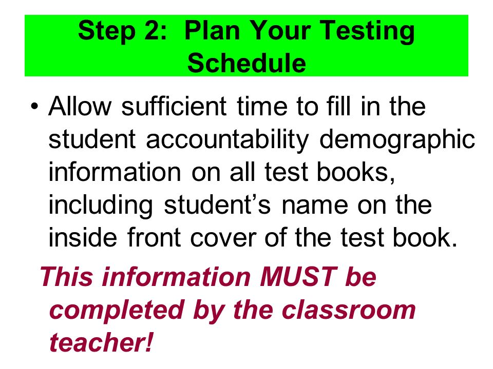 Step 2: Plan Your Testing Schedule