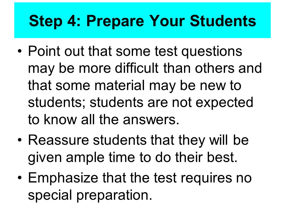 Step 4: Prepare Your Students