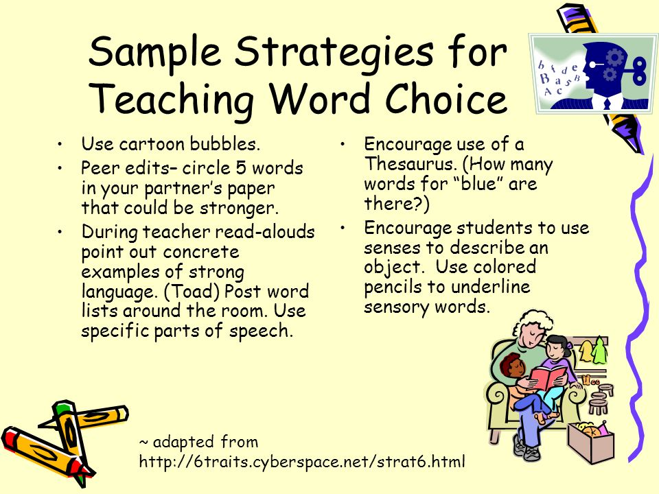 Sample Strategies for Teaching Word Choice