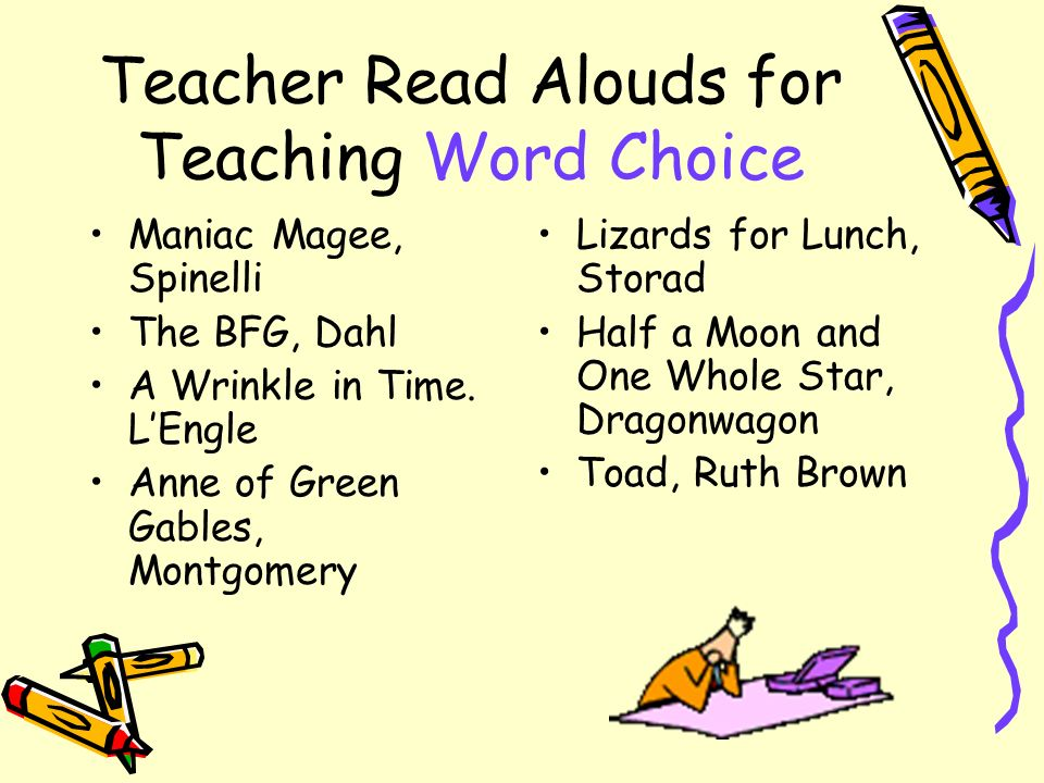 Teacher Read Alouds for Teaching Word Choice