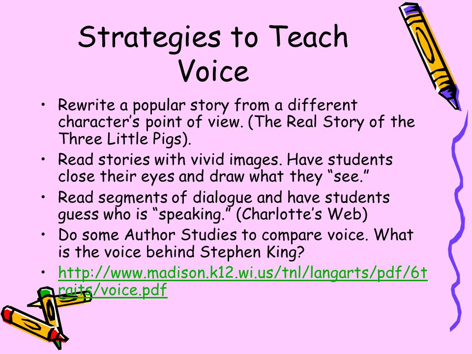 Strategies to Teach Voice