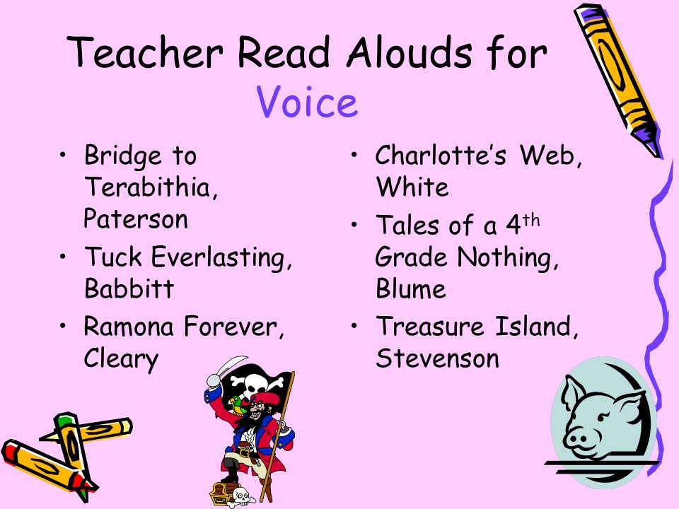 Teacher Read Alouds for Voice