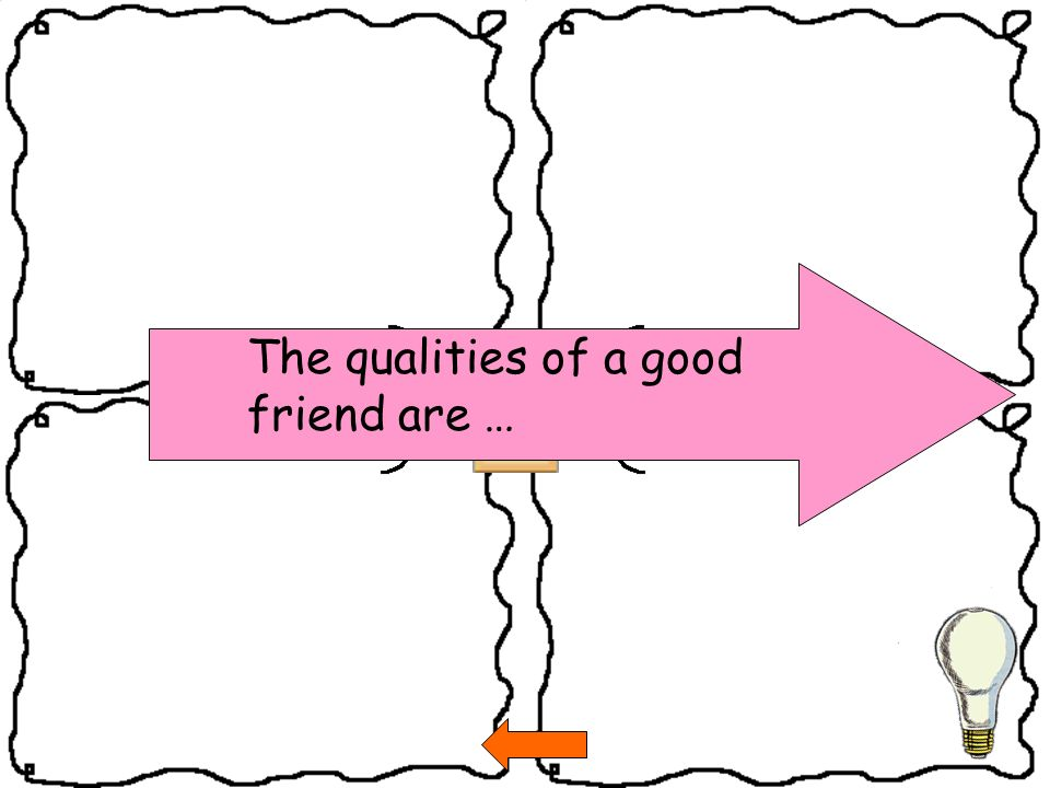 The qualities of a good friend are …