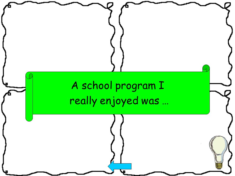 A school program I really enjoyed was …