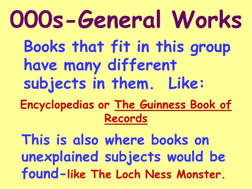 Encyclopedias or The Guinness Book of Records