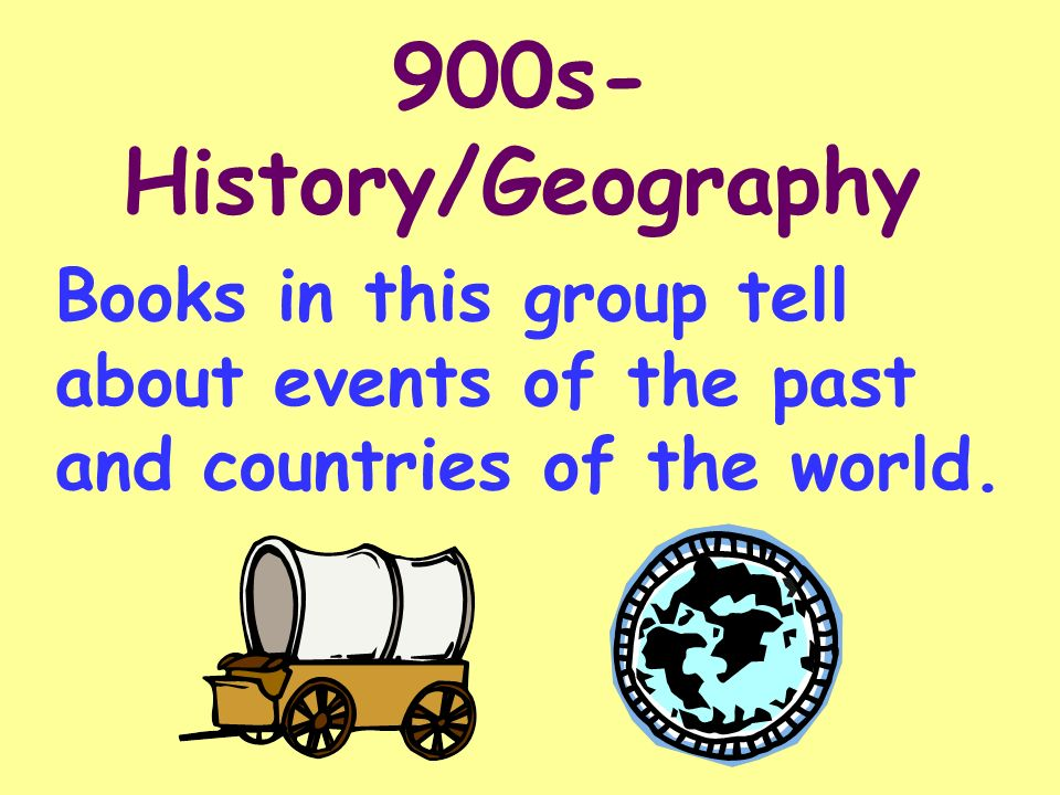 900s-History/Geography Books in this group tell about events of the past and countries of the world.