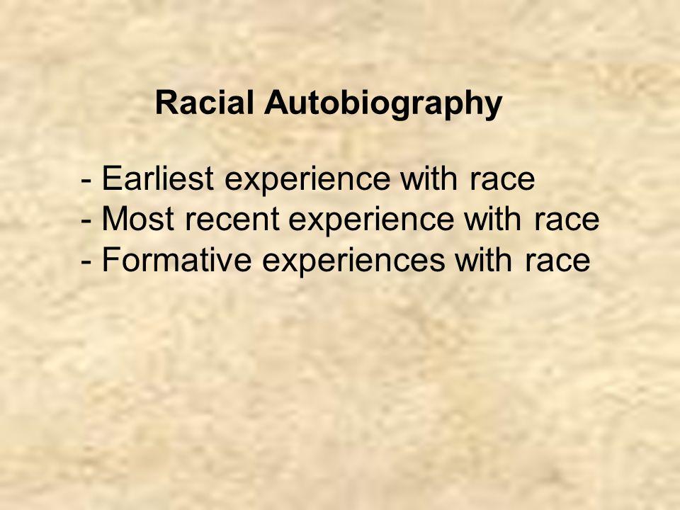 racial autobiography Names we call home: autobiography on racial identity [becky thompson, sangeeta tyagi] on amazoncom free shipping on qualifying offers names we call home is a ground-breaking collection.