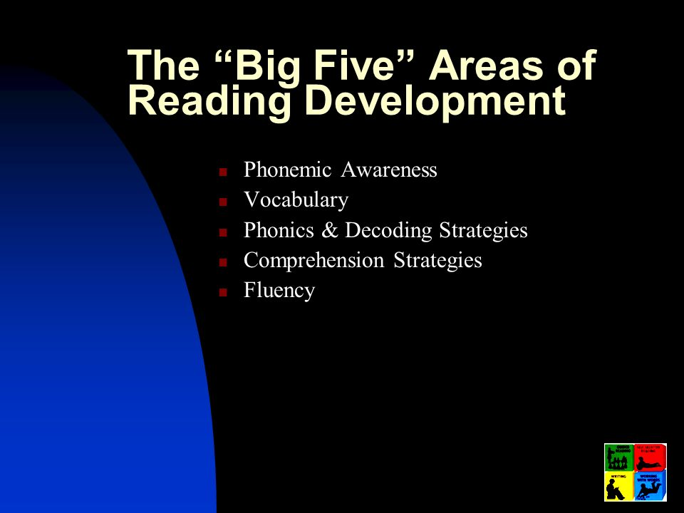 The Big Five Areas of Reading Development