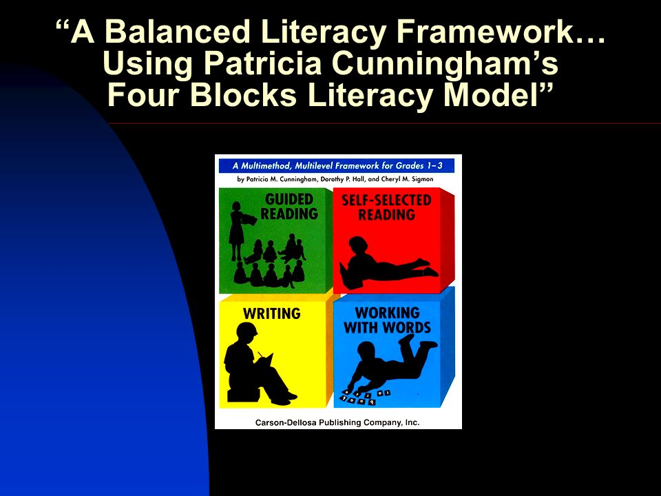 A Balanced Literacy Framework… Using Patricia Cunningham's Four Blocks Literacy Model
