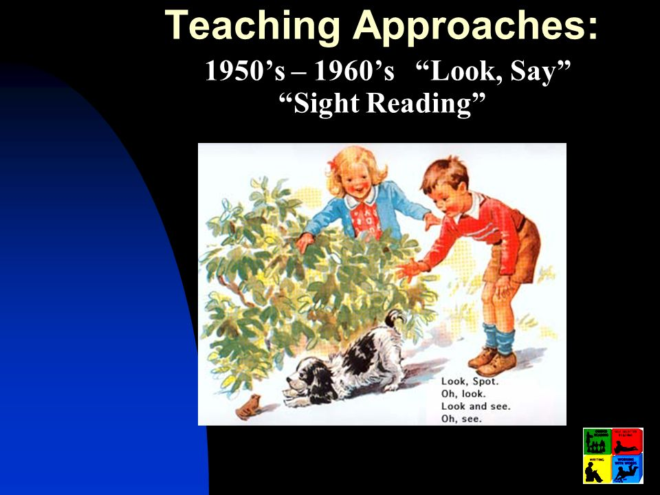 Teaching Approaches: 1950's – 1960's Look, Say Sight Reading