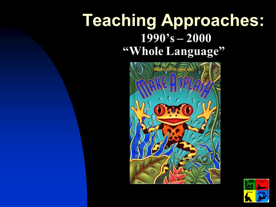 Teaching Approaches: 1990's – 2000 Whole Language