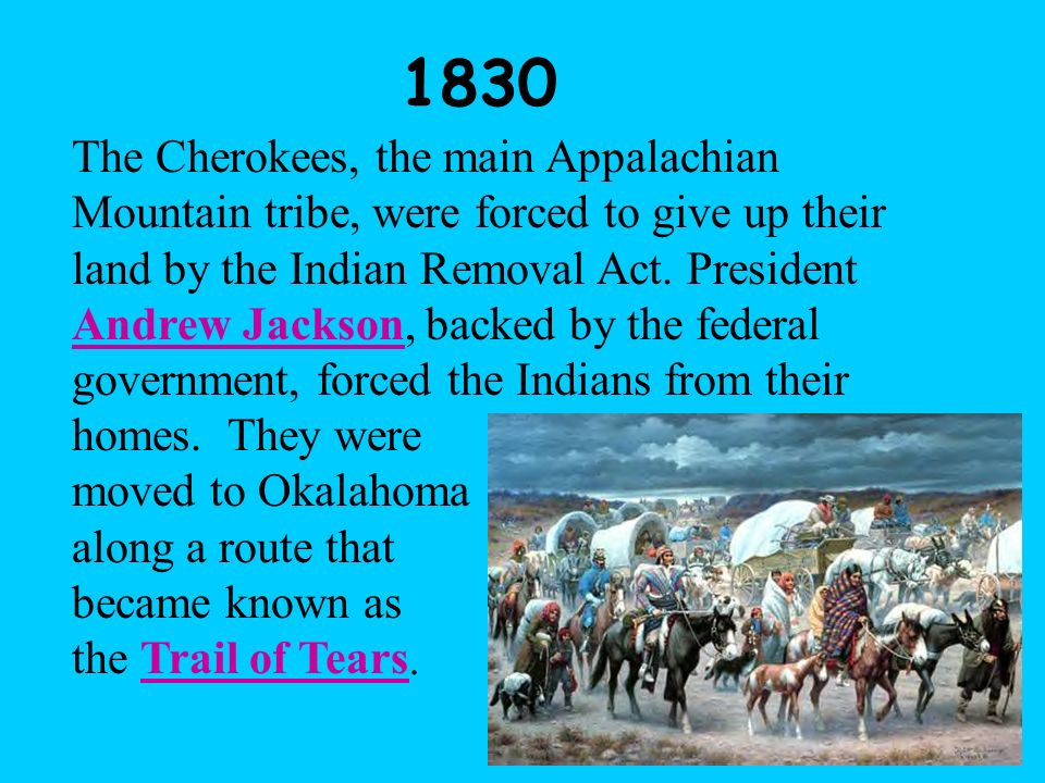 Removal of Tribes to Oklahoma