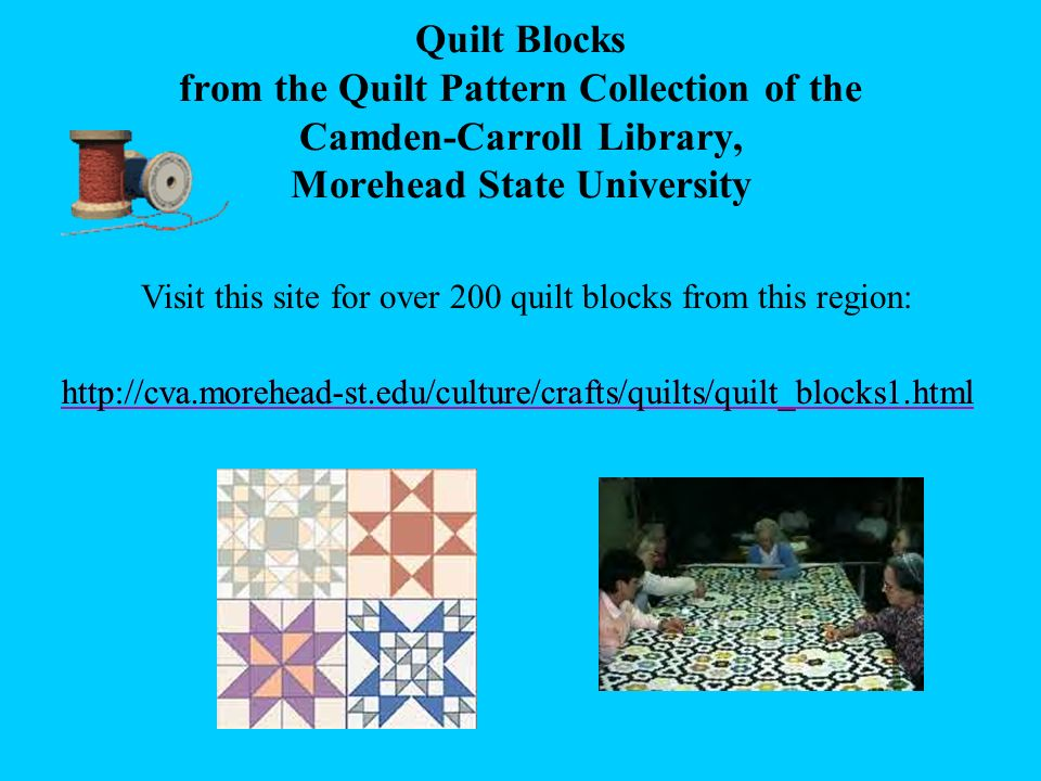 Quilt Blocks from the Quilt Pattern Collection of the Camden-Carroll Library, Morehead State University
