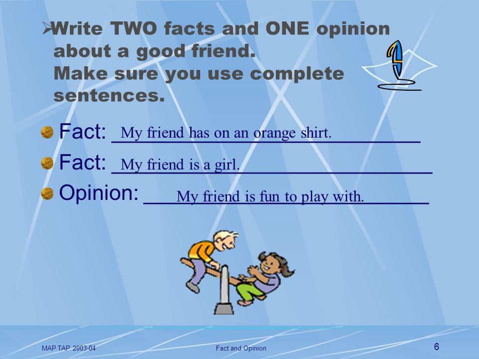 Fact: __________________________ Fact: ___________________________