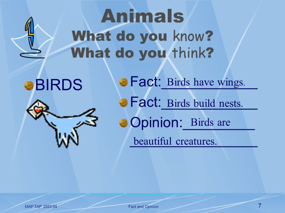 Animals What do you know What do you think