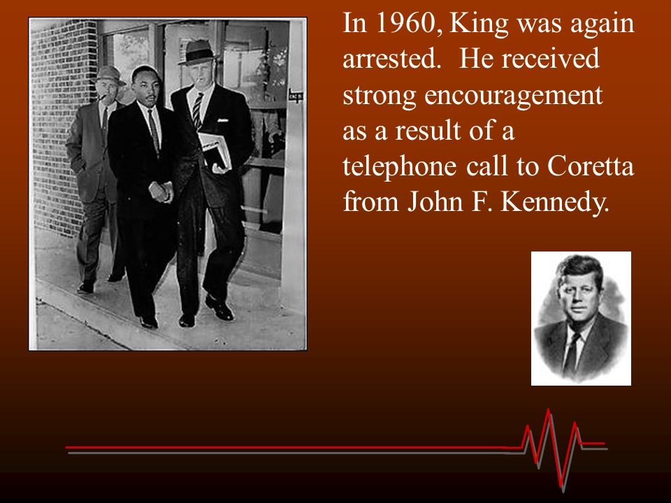 In 1960, King was again arrested