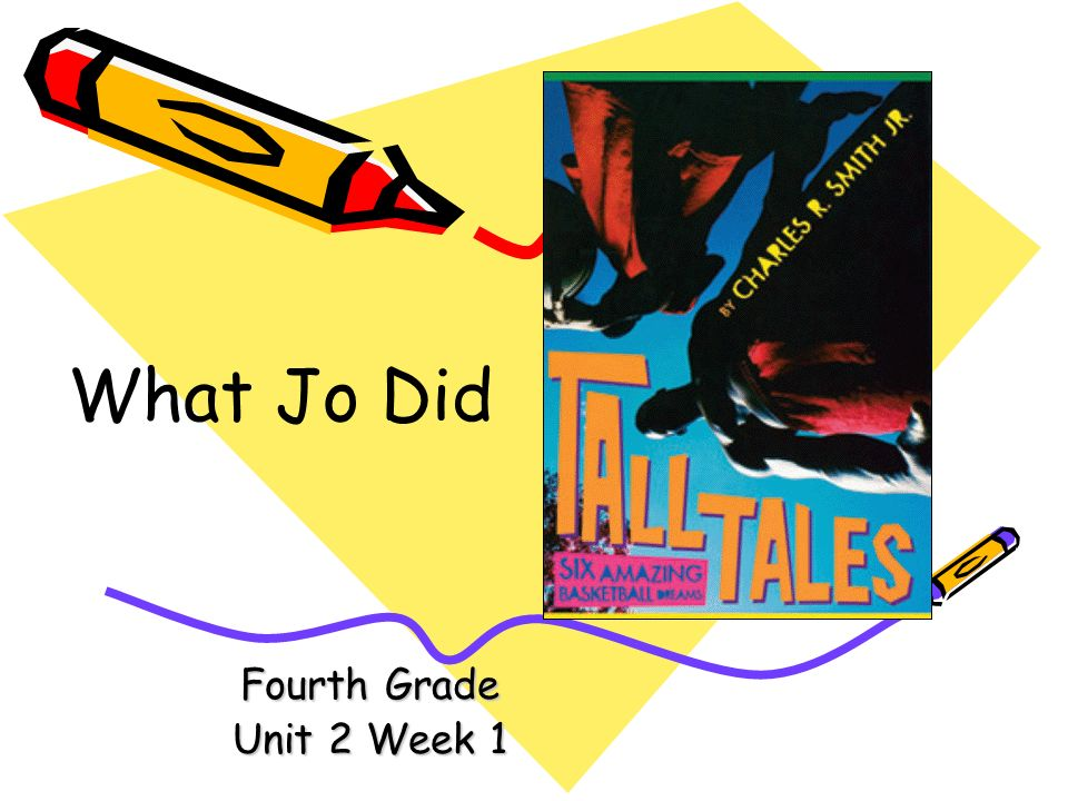What Jo Did Fourth Grade Unit 2 Week 1