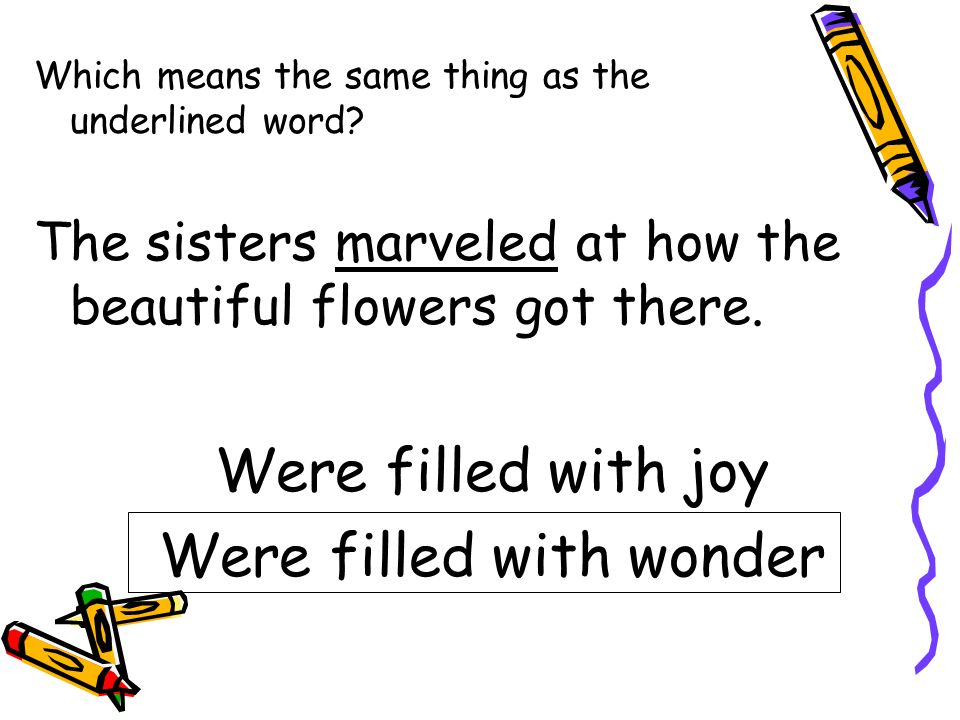 Were filled with wonder