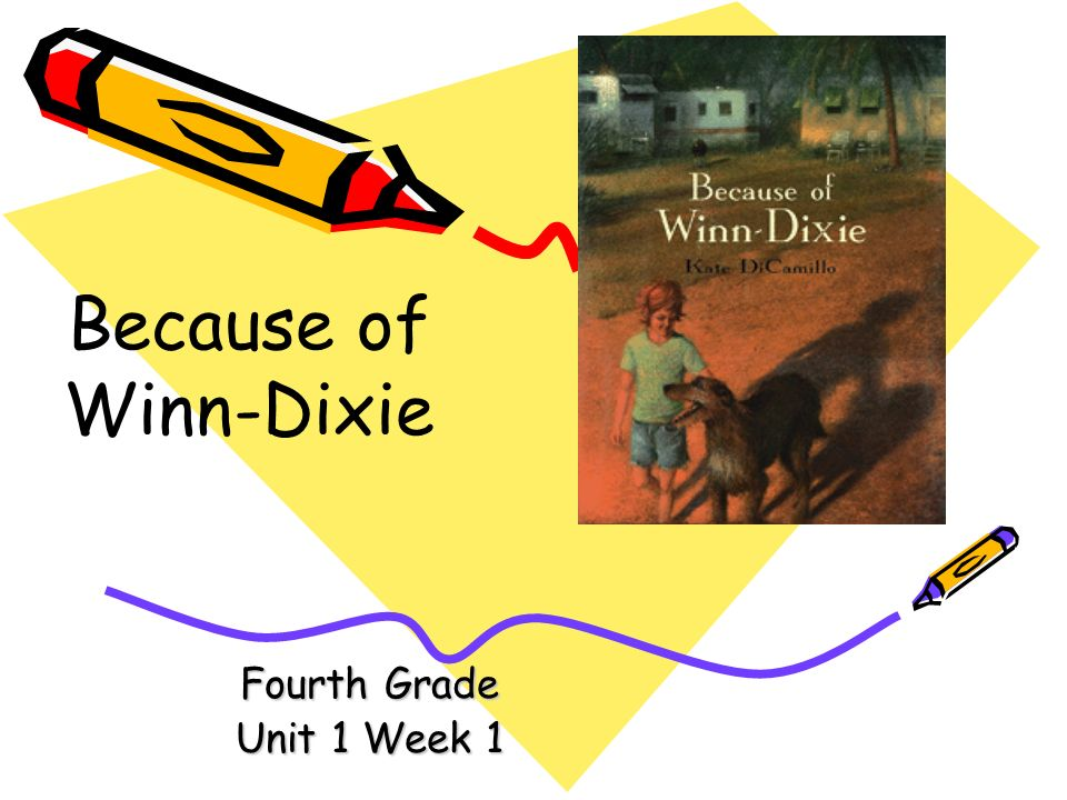 Because of Winn-Dixie Fourth Grade Unit 1 Week 1