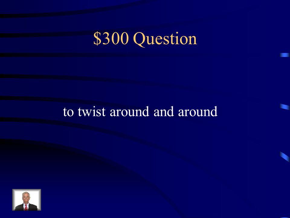 $300 Question to twist around and around