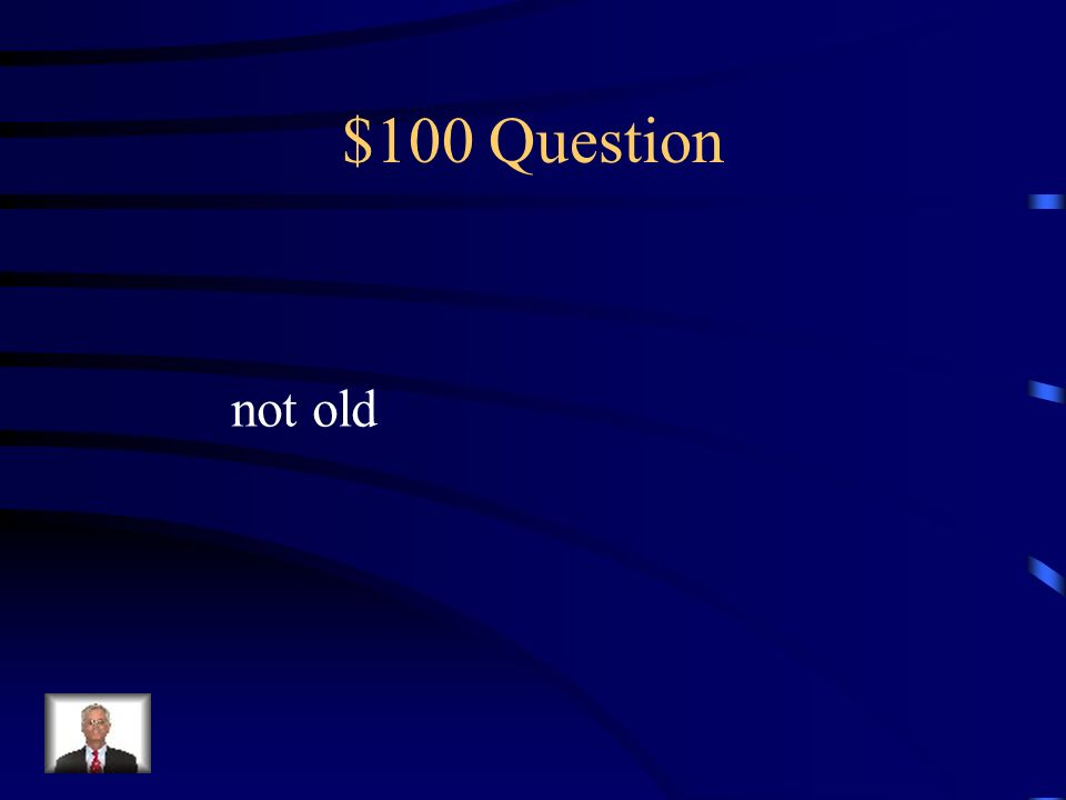 $100 Question not old