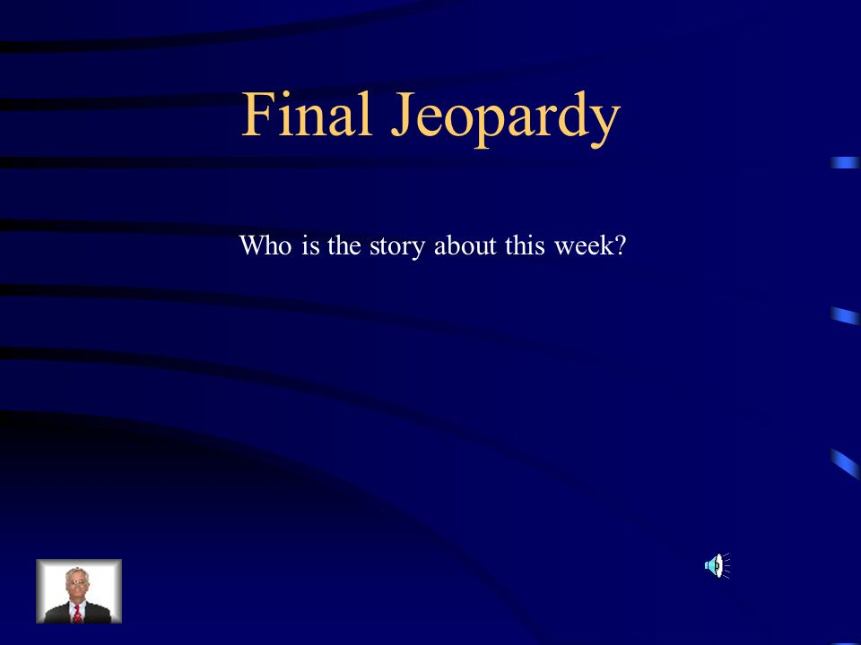 Who is the story about this week