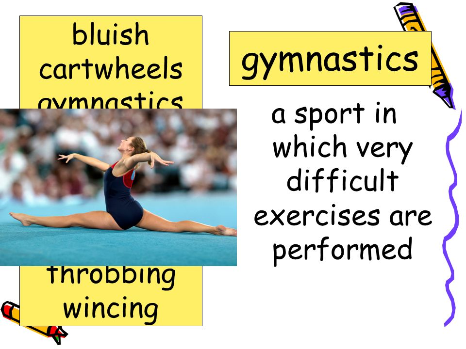a sport in which very difficult exercises are performed
