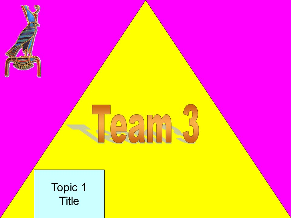 Team 3 Topic 1 Title