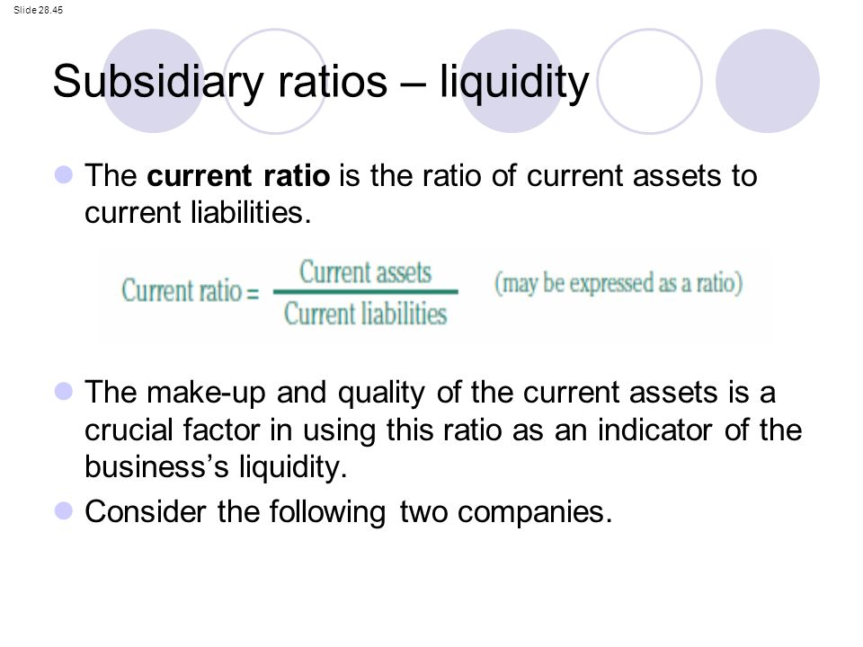 how to find the current ratio of a business