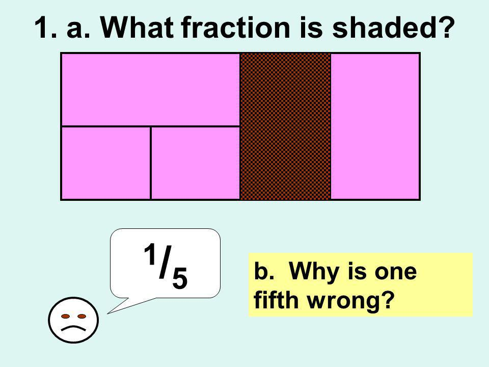 1. a. What fraction is shaded