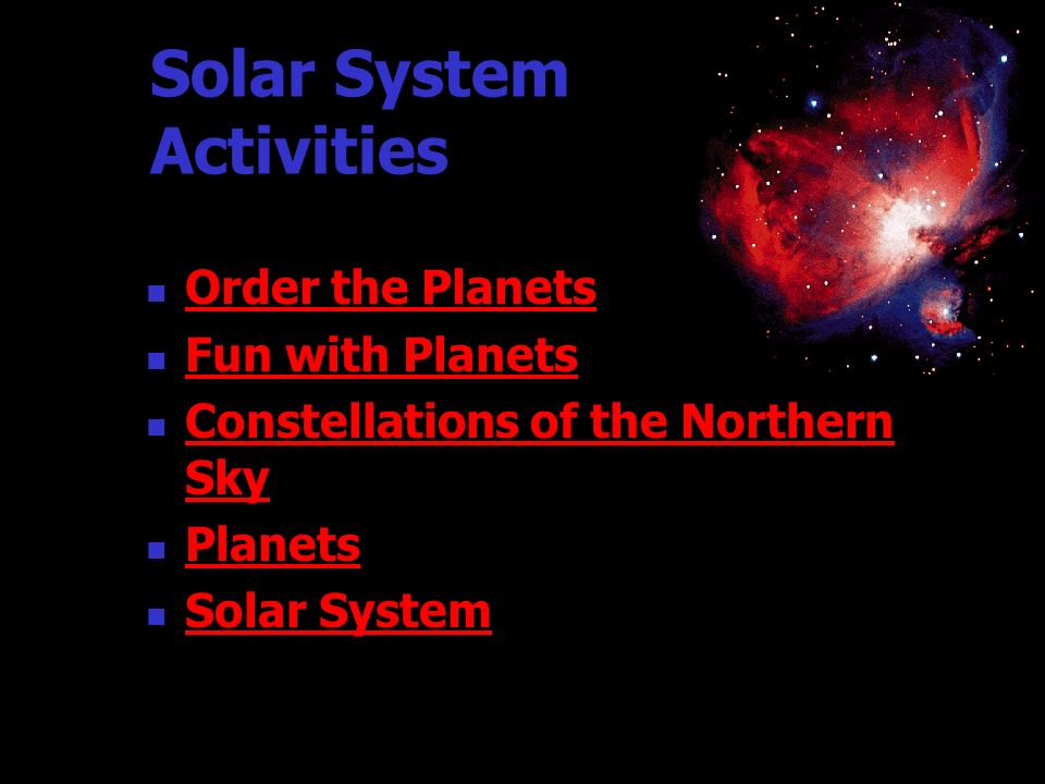 Solar System Activities